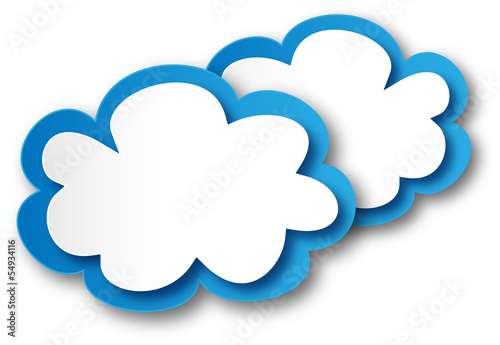 Clouds (buttons symbols icons connectors web chart template )