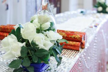 The scene of wedding celebrations