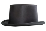 Black top hat isolated on white background