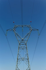 Detail of electricity pylon