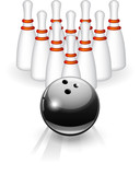 Bowling black ball