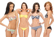 group of model girls in bikinis