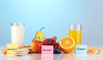 Dietary foods for breakfast, dinner and supper