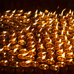 Church candles in Kathmandu