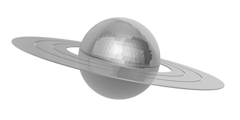 saturn on a white background