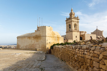 ancient Il-Katidral in the castle Rabat (Victoria)
