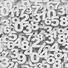 Seamless texture of digits