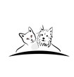 Vector-Cat and dog logo