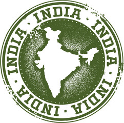 India Country Tourism Stamp