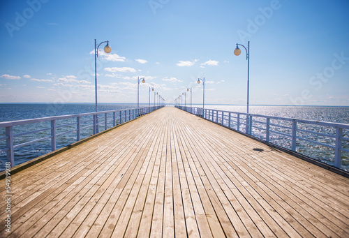 Summer time at the wooden pier - 54939988