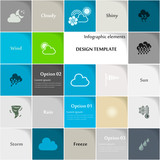 Weather icon set vector abstract background