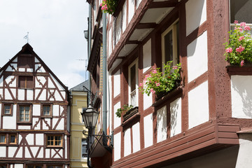 Half-timber houses of Bernkastel-Kues in Germany