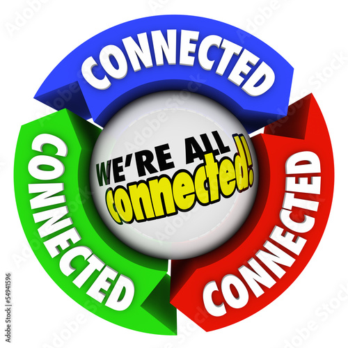 We're All Connected Community Society Arrow Connections Circle