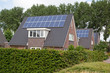 New family homes with solar panels