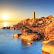 Coucher de soleil sur les côtes de Bretagne.