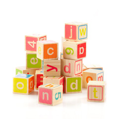 alphabet cubes with letters