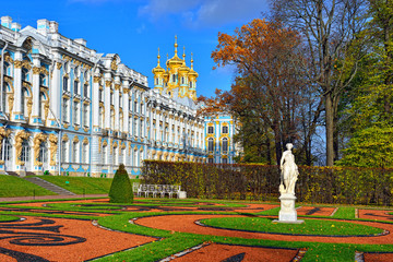 Catherine palace and park in Pushkin.