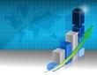 successful business graph illustration design