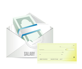 salary illustration design