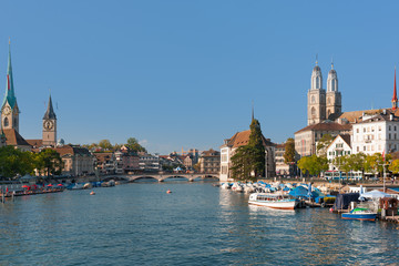 Zurich in a sunny day in september