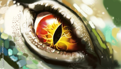 canvas print picture Eye of lizard