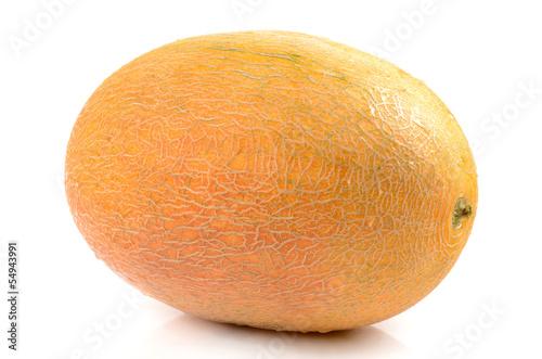 melon on a white background