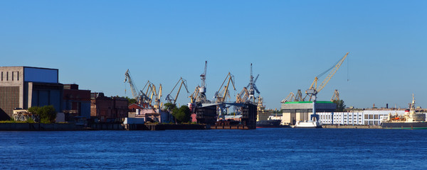 dock yard at St. Petersburg, Russia