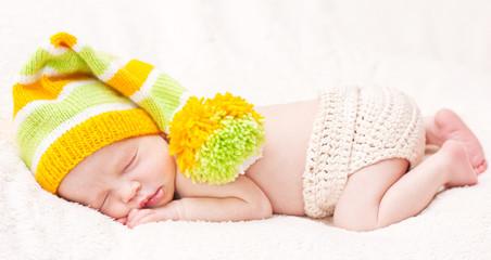 Close-up of sleeping newborn