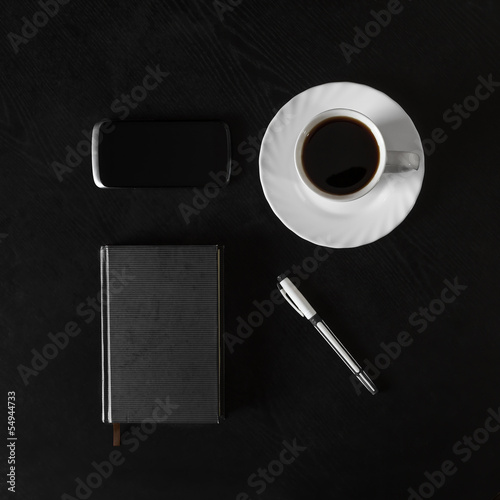 objects on the office desk