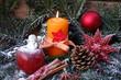 Weihnachtskerze Frohes Fest
