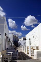 Naoussa, village sur l'île grecque de Paros dans les Cyclades