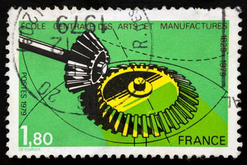 French postage stamp - School of Arts and Manufac tures