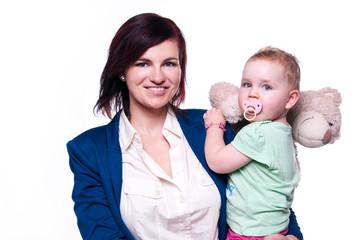 allein erziehende Frau mit Kind III