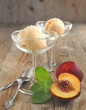 Peach (nectarine) ice cream