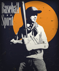 baseball vintage poster illustration