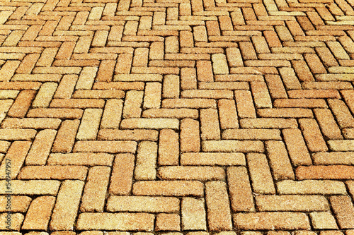 Brick pavement background