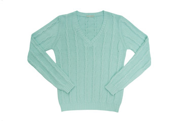 sea-green sweater
