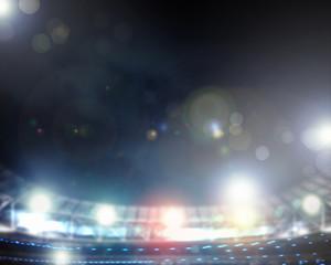 Lights of stadium