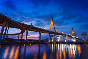The Bhumibol Bridge also known as the Industrial Ring Road