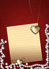 Heart pendant and pearls
