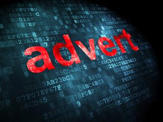 Advertising concept: Advert on digital background