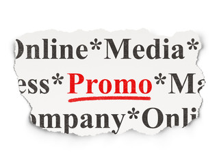 Marketing concept: Promo on Paper background
