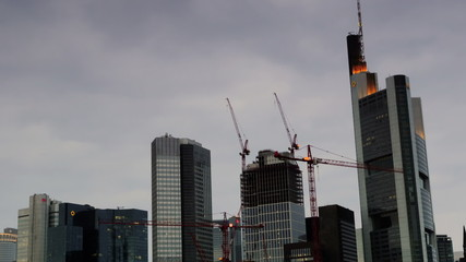 Frankfurt construction Day to Night time lapse