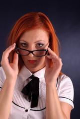 Redhead businesswoman