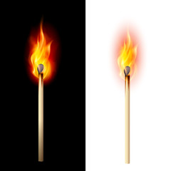 Burning match