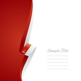 Singaporean left side brochure cover vector