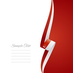 Singaporean right side brochure cover vector
