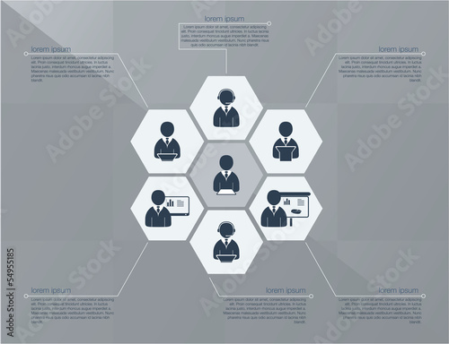 Six step business concept
