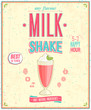 Vintage MilkShake Poster. Vector illustration. - 54955797