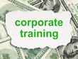 Education concept: Corporate Training on Money background